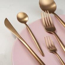 KuBac Hommi 30Pcs Rose Gold Cutlery Set Wedding Dinnerware Dinner Forks Knives Scoops 18/10 Stainless Steel Silverware