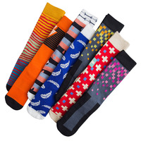 14 pairs / Pack ! Winter Mens Cycling socks Happy skateboarding socks Outdoor cotton Skiing Hiking stockings Running socks Meias