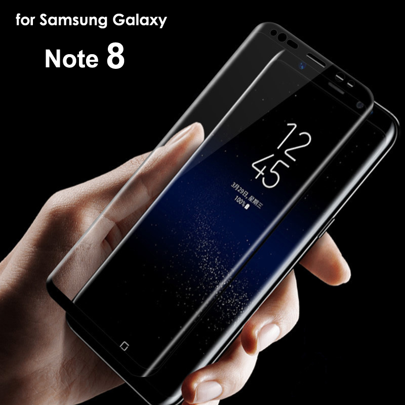 100x note8 Full Cover 3D Curved Tempered Glass Screen Protector For Samsung Galaxy note 8 full Film retail package
