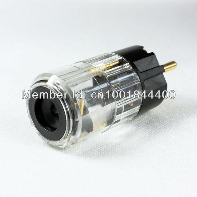 GP Germany type Audio grade power plug gold plated, silver plated ...