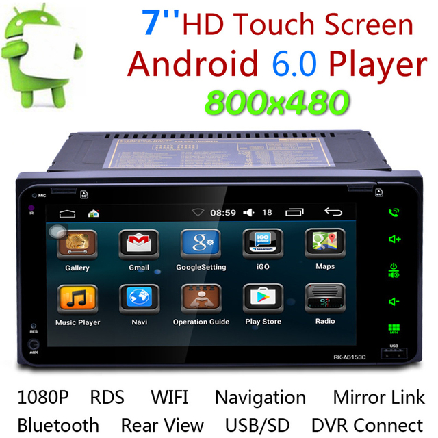 Universal 7 Inch Car Stereo 2Din Bluetooth DVD Car Multimedia Player MP5 FM Radio Auto GPS Navigation Support Rearview Camera