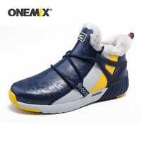 ONEMIX Winter Mann Stiefel Warme Wolle Turnschuhe Sport Schuhe Outdoor Bequeme Laufschuhe für Männer Wasserdichte Winter Wanderschuhe