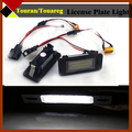 1Pair For Volkswagen Touran Touareg 18-SMD Canbus License Number Plate Bulbs Auto 6000K LED White Lights High Power