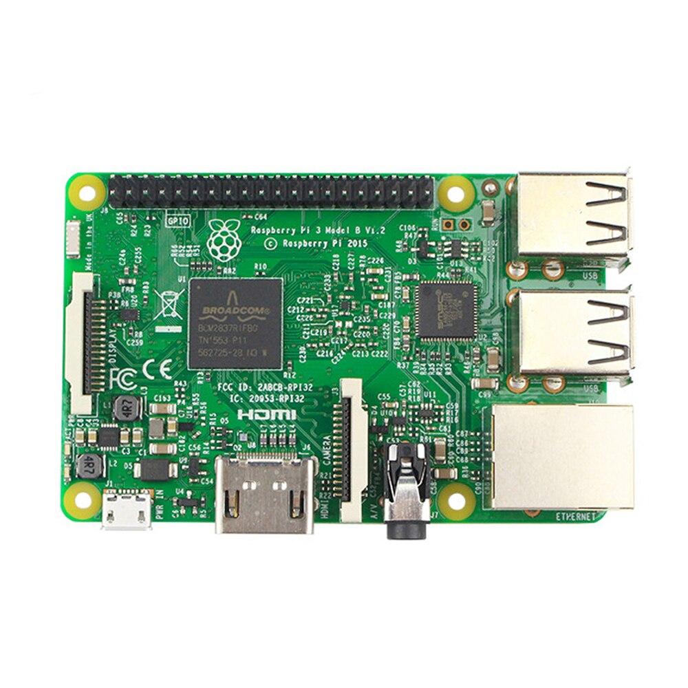 Frambuesa Pi 3 Modelo B Junta 1 GB LPDDR2 BCM2837 Quad-Core Ras PI3 B, PI 3B, PI 3 B con WiFi y Bluetooth