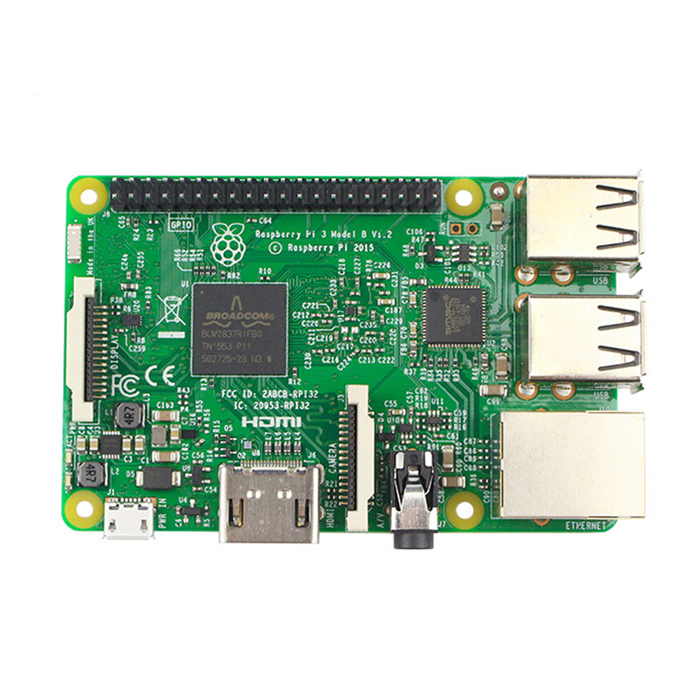 Raspberry PI 3 Model B доска 1 GB LPDDR2 BCM2837 Quad Core Ras PI3 B, PI 3B, PI 3 B с Wi Fi и Bluetooth-in Доски для показов from Компьютер и офис