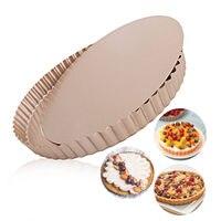 Пирог Тарт кастрюли съемная нижняя 9,5 дюймов круглый антипригарной Quiche форма для выпечки