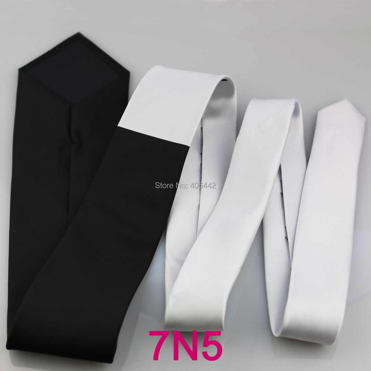 Yibei Coachella ties untuk pria gravata Putih knot Kontras Dua Tone leher dasi corbatas dasi Patchwork Formal Hitam gaun kasual