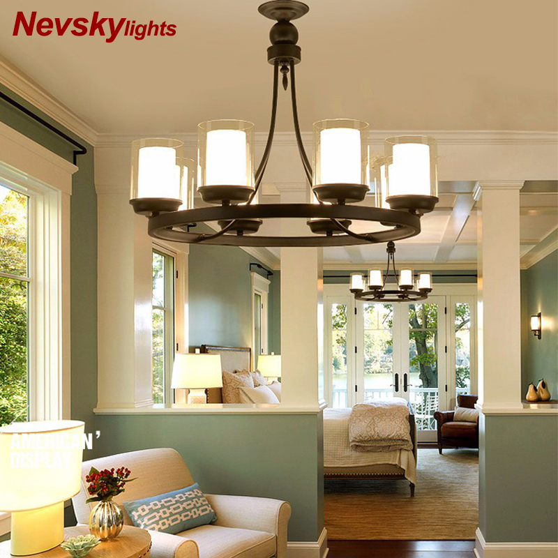 Europe Style Candle Lampholder Chandelier Light Restro Home Decoration Lighting E27 Dining Room Bedroom Hotel Lustre
