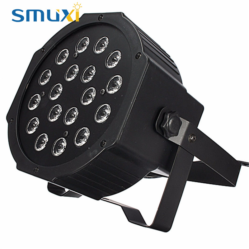 Smuxi DMX-512 18W LED RGB Stage Light 7CH 5 Control Modes Stage Lighting Effect Party Disco Club DJ Decor Lamp 90-240V