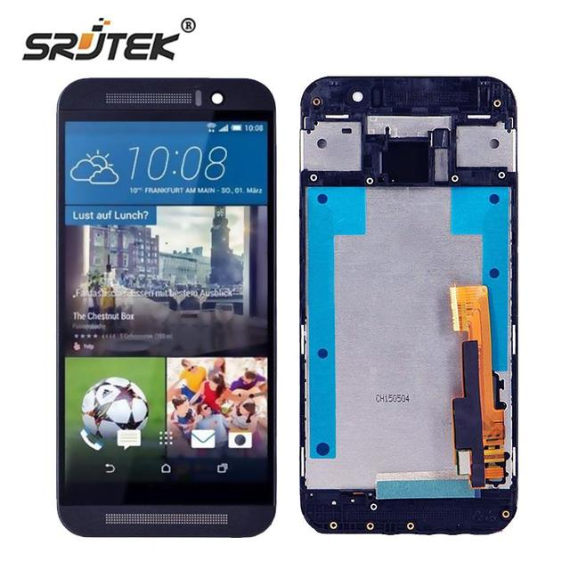 Srjtek screen For HTC One M9 LCD Display Touch Digitizer Sensor Glass with Frame Assembly 5.0'' For HTC One M9 M9E M9W Touch