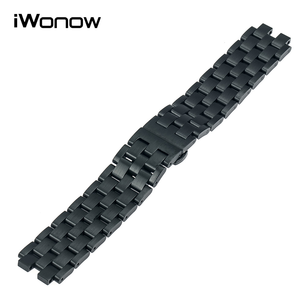 Stainless Steel Watchband Butterfly Buckle Strap +Tool for Pebble Steel 2 Smart Watch Band Wrist Belt Link Bracelet Black Silver 26mm stainless steel watchband tool for garmin fenix 3 hr 5x watch band butterfly buckle strap wrist bracelet silver black gold