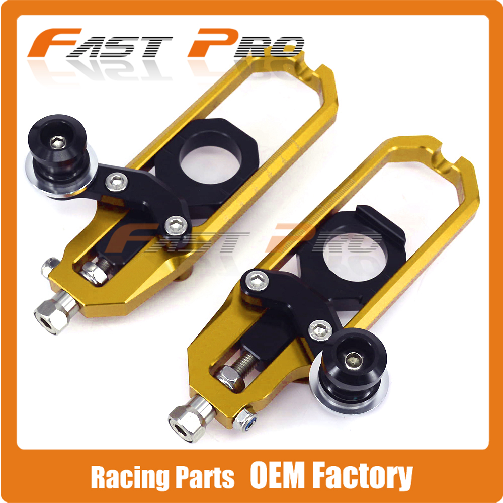 Motorcycle Chain Adjusters Tensioners With Spool for SUZUKI GSXR1000 GSX1000R GSXR 1000 GSX 1000R 2009 2010 2011 2012 2013 chain adjusters tensioners with spool fit for honda cbr600rr cbr600 rr 2007 2008 2009 2010 2011 2012 motorcycle