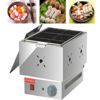1pc Commercial six grid thickened FY 11 electric Kanto cooking Mala Tang machine Snack equipment cooking pot