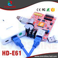 New Product E61 HD-E61 LAN and USB Port Single and Double Color LED Display Module Control Card With 2 Of HUB12 and 1 Of HUB08