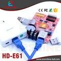 Novo Produto E61 HD-E61 Porta LAN e USB Simples e Dupla Cor Módulo de Display LED de Cartão de Controle Com 2 De HUB12 e 1 De HUB08