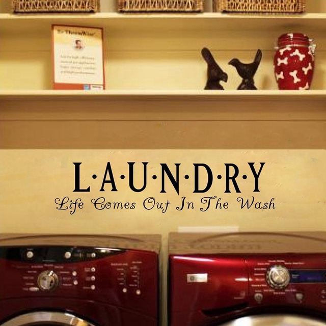 Wall stickers laundry room decor vinyl waterproof wall quote modern art home decor stickers free