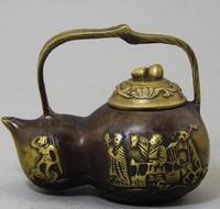 Antico Cinese multa scultura vaso di bronzo
