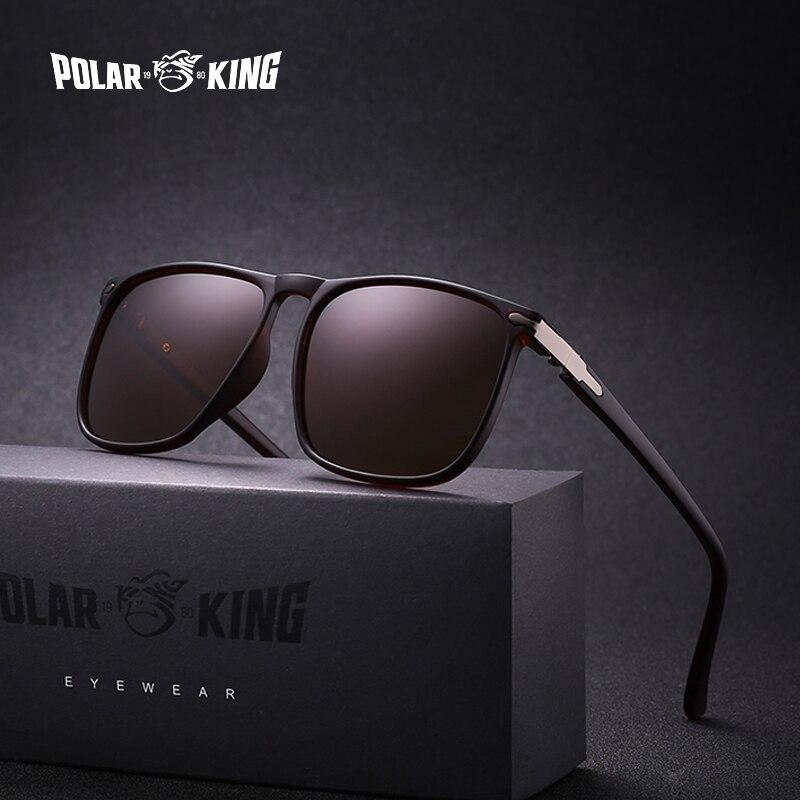 POLARKING Brand Square Polarized Sunglasses For Men's Fashion Plastic Sun Glasses For Men Travel Driving Eyewear oculos