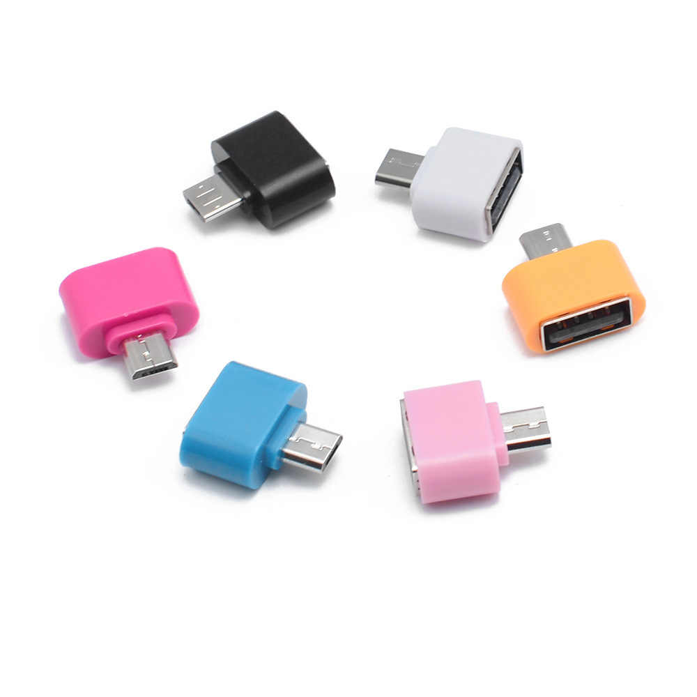 1 pc/2 piezas Micro USB a USB convertidor de Cable Mini OTG adaptador USB OTG para Tablet PC Android