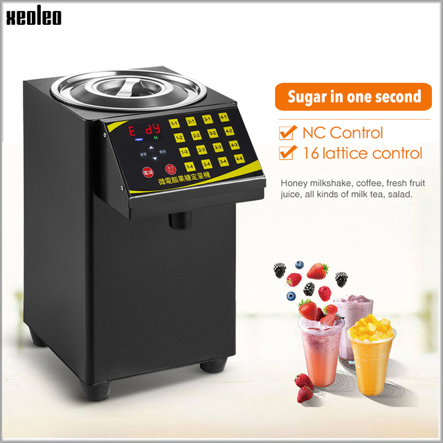 XEOLEO 버블 티 설탕 디스펜서 9L Fructose 정량 machine16 그리드 자동 Fructose 기계 시럽 디스펜서