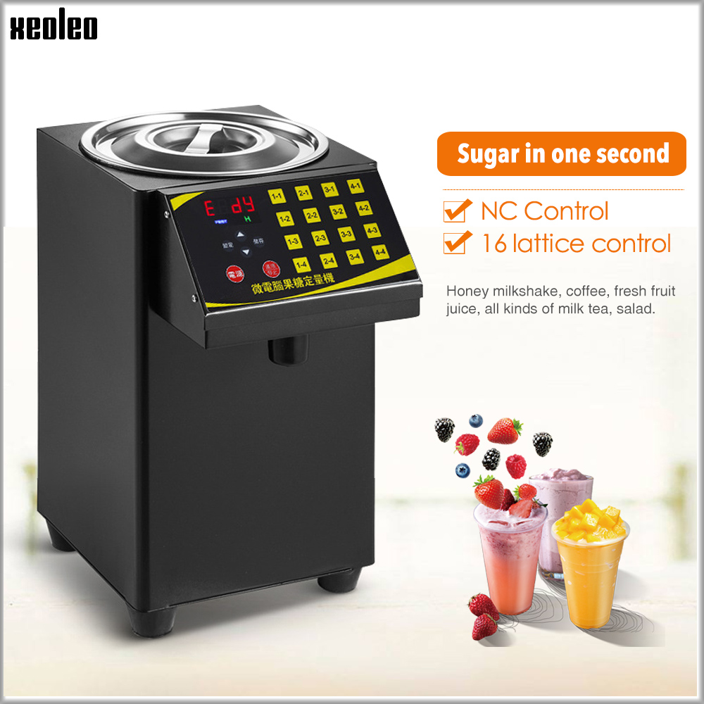 XEOLEO Bubble Tea Sugar Dispenser 9L Fructose Quantitative Machine16 Grid Automatic Fructose Machine Syrup Dispenser