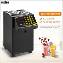 Xeoleo bolha chá dispensador de açúcar 9l frutose quantitativa machine16 grade automática máquina de frutose xarope dispenser