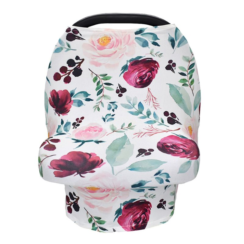 Premium 4 in 1 Stretchy Car Seat Cover Nursing Scarf Shopping Cart Grocery Trolley Cover High Chair Cover Unisex Classic Design in Strollers Accessories from Mother Kids