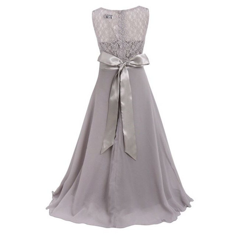 Lovely 10 Color Child Kid Girl Lace Princess Pageant Party Wedding Formal Bridesmaid Beautiful Dress 4-15Y S2 hwyhx 2016 new split type child girl floral pattern lovely swimsuits kid swimwear skirts best price