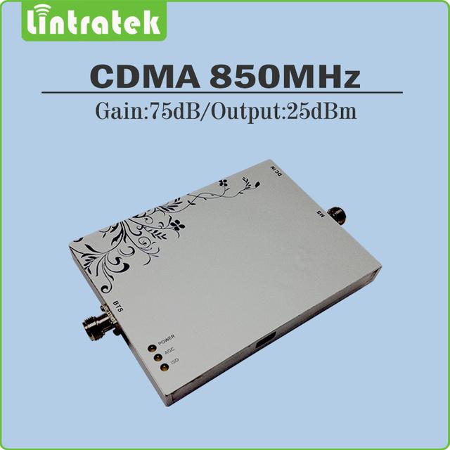 Repetidor de celular gsm 850 mhz repetidor 75dB Ganho CDMA 850 mhz reforço de sinal de telefone celular com função AGC MGC
