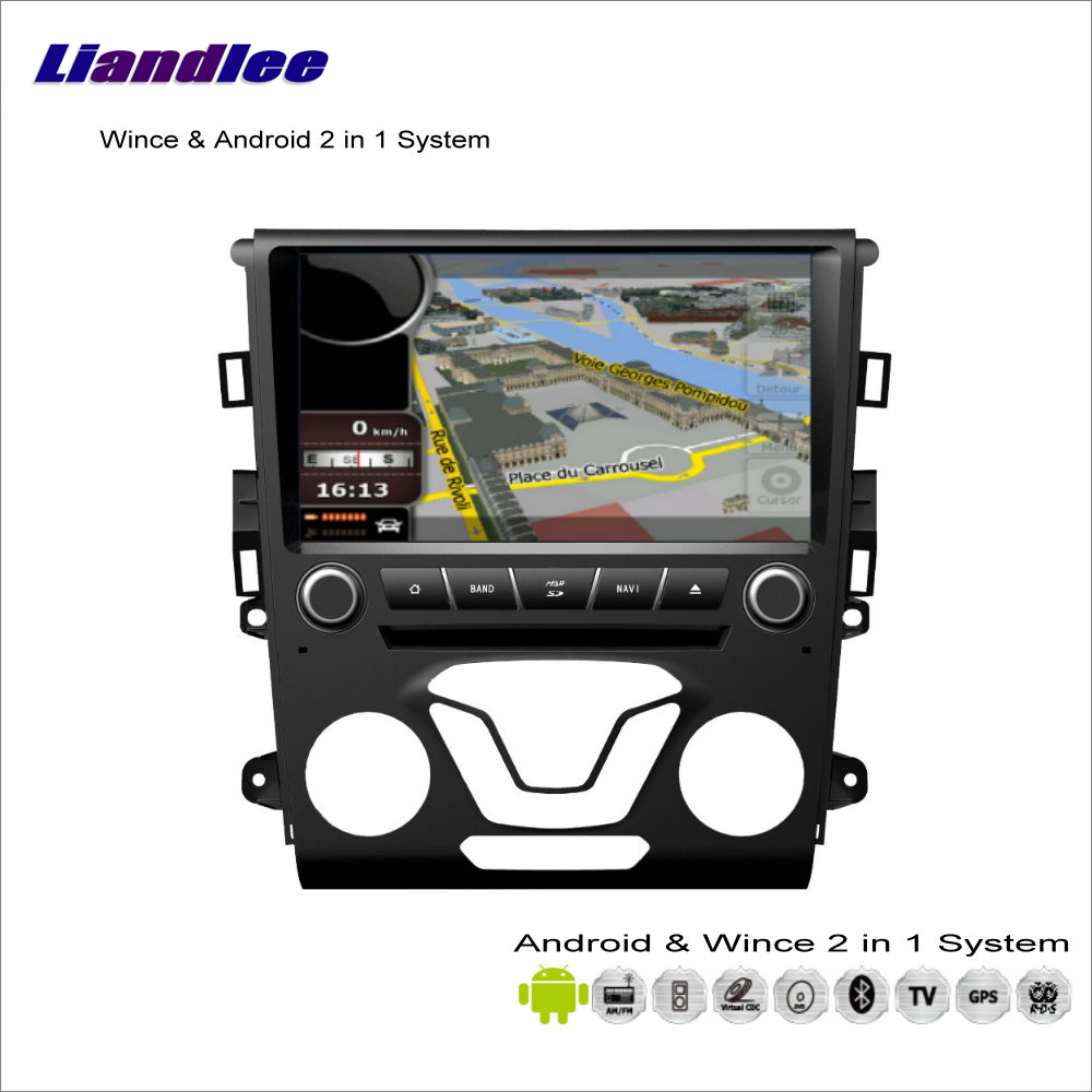 Liandlee For Ford Mondeo 2012~2014 Car Radio CD DVD Player GPS Nav Navi Navigation Advanced Wince & Android 2 in 1 S160 System