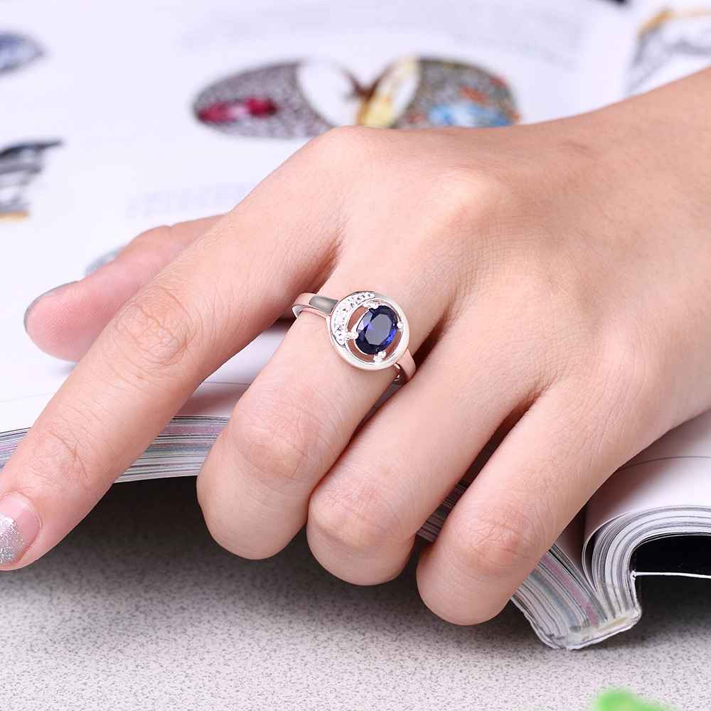 KITEAL exo silver Blue Gold Red size 7 8 women wedding ring Oval ...