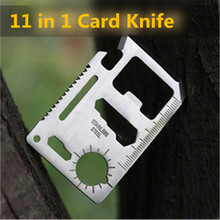 11 Functions in 1 Survival Card Knife Pocket Saber Card for Outdoor Camping