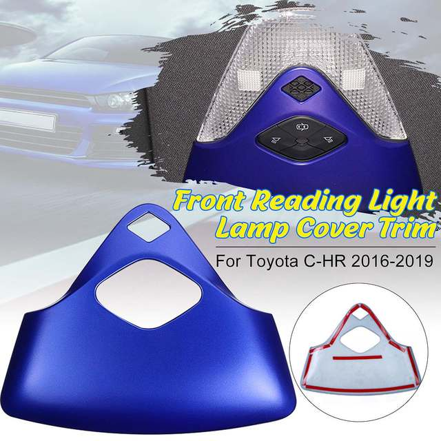 Blue/Black Car Front Reading Light Lamp Cover Panel Decoration Trim Frame For Toyota CHR 2016 2019 Car Styling Accessories