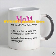 цены Morphing Mug Mom Coffee Mug christmas mugs Heat Sensitive Changing Color Mug Cup brithday gift mug