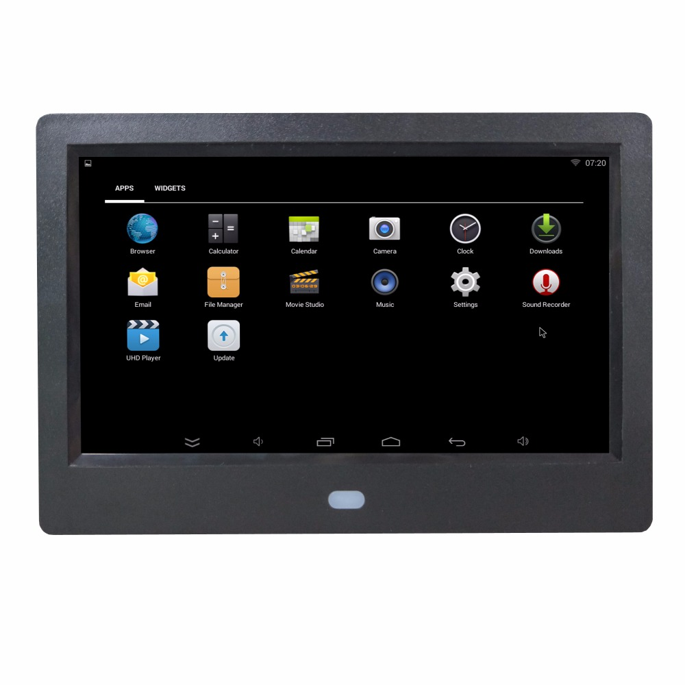 US $66 24 9% OFF|7 inch 7 inches WIFI android system download install app  apk software support Mouse digital photo frame digital album 8G memory-in