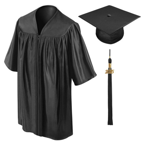 Black Preschool Graduation Gowns-Be.Fore