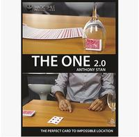 2015 New The One 2 0 Gimmick DVD Magic Trick Stage Card Magic Close Up Classic