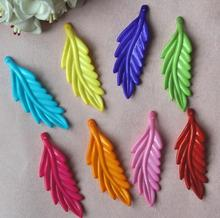 450pcs 18*56mm Beautiful Acrylic Maple Leaves Leaf Beads With Hole For Hair Peice Tiaras Jewelry  Scrapbooking Craft DIY
