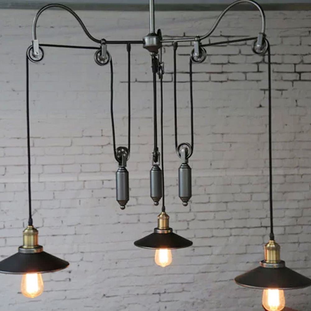 com buy retro american country industrial style pendant light