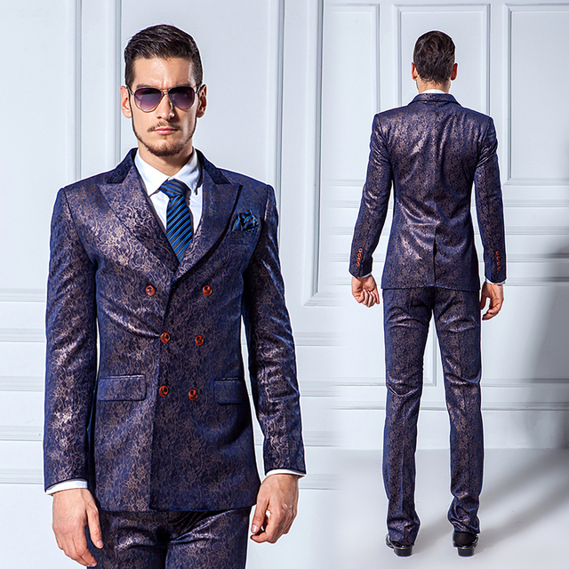 Aliexpress.com : Buy Classic 2015 Slim Fit Groom Suit Stain Lapel ...