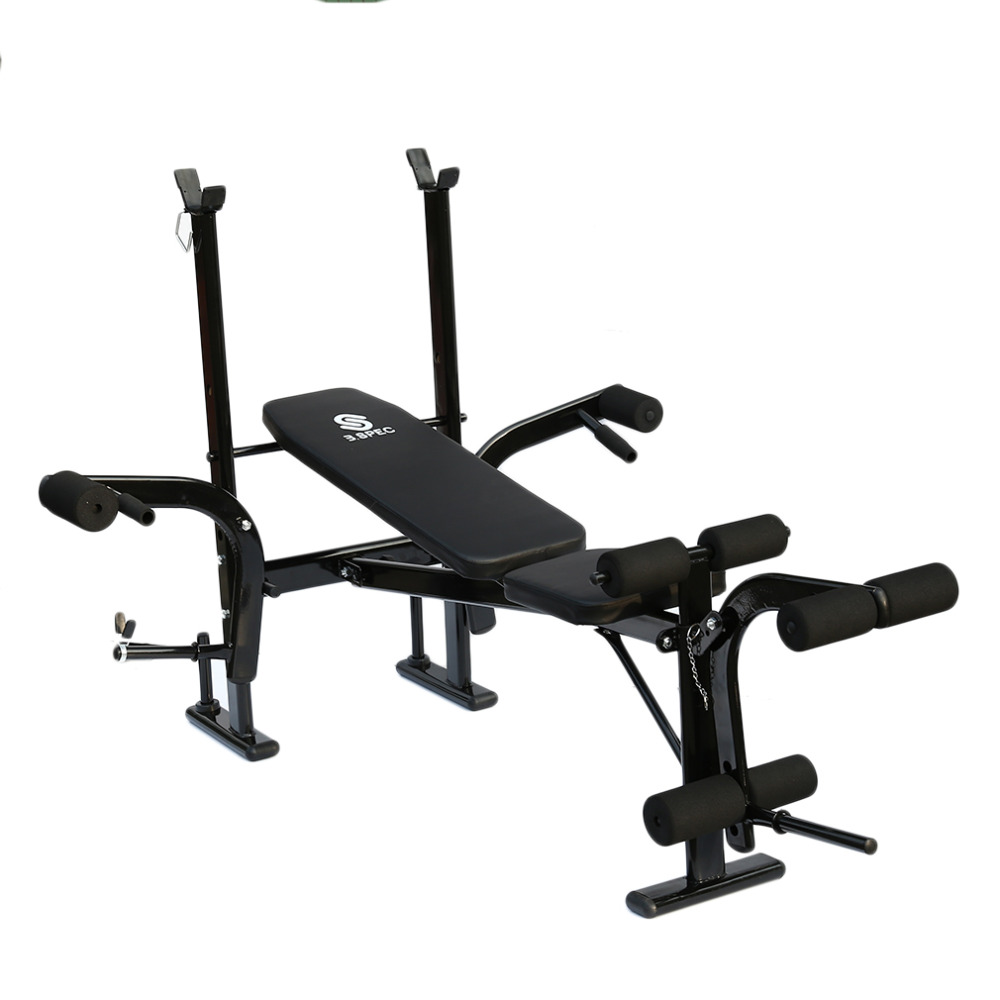 Professional Practical Sport Training Multifunctional Weightlifting Bed Rack Bench Stand Barbell Rack Barbell Set Fitness