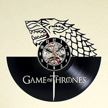 "CV Wall clock ""Winter is Coming"" Game of Thrones"