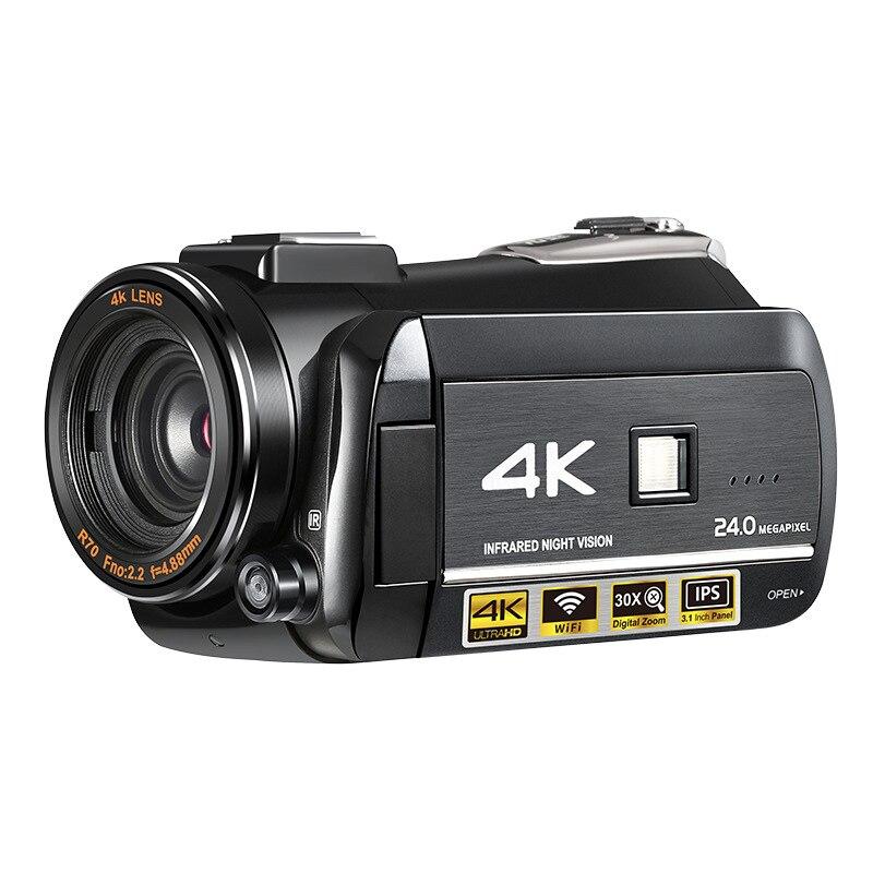 Portable 3.1 ''écran tactile intégré Microphone 4 K HD WIFI caméra de nuit caméscope camara fotografica profesional