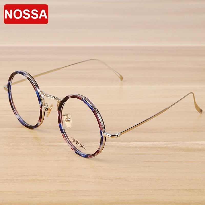 NOSSA Metal Round Glasses Frame Alloy Eyeglasses Frames Women & Men's Fashion Optical Glasses Frame Retro Elegant Myopia Frames