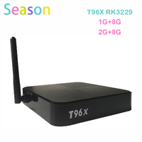 2017 Oigrinal RK3229 Quad-core T96X 2G+8G Android 6.0 TV BOX Support Bluetooth Wireless Expand Memory Set Top Box PK T95N