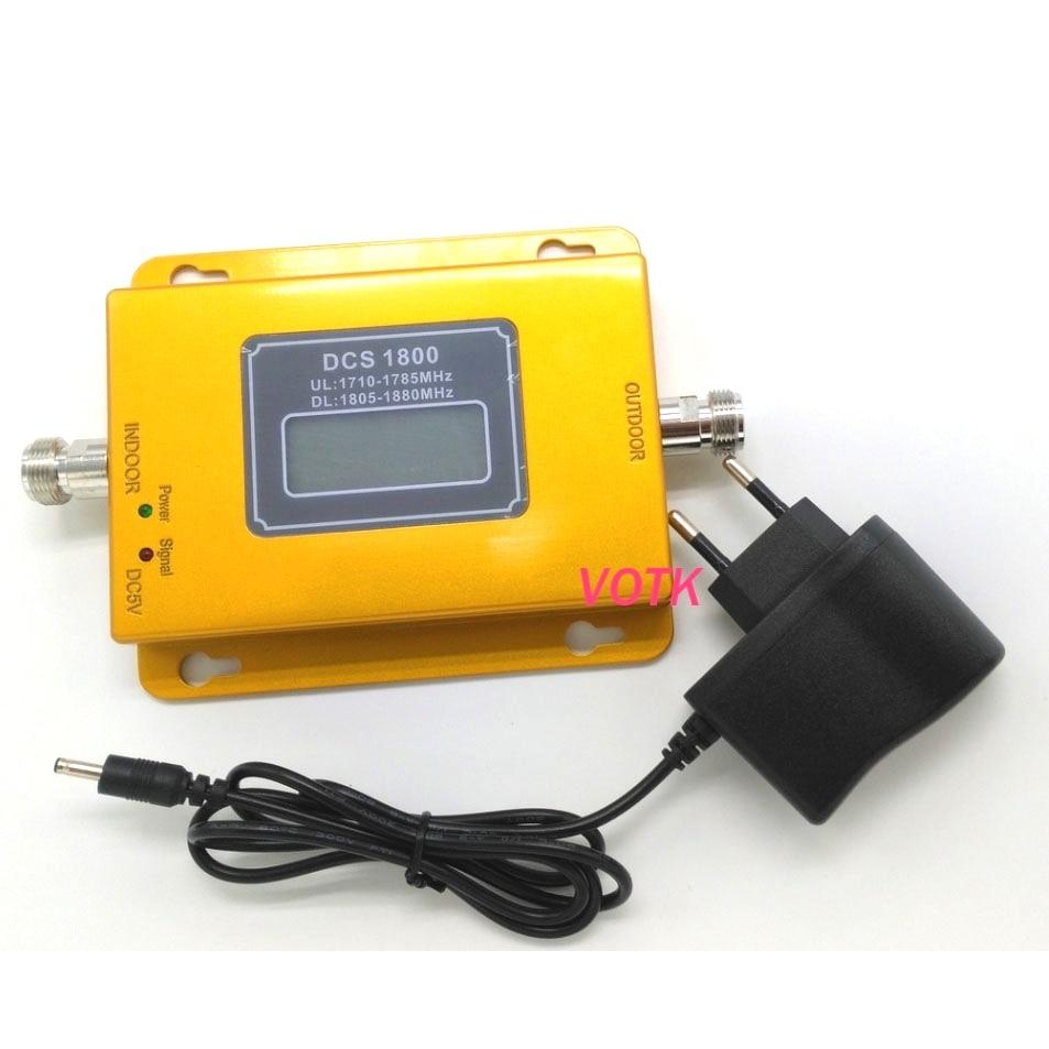 VOTK LTE DCS 1800 мГц 4G усилитель сигнала Сотовый телефон DCS 2G 4G повторитель сигнала LTE 1800 Мобильный усилитель сигнала с адаптером питания