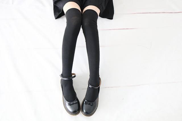 26079a605c0 2 Pairs Woman Spring Thigh High Argyle Cosplay Stockings Students Anime  Show Above Knee Cotton Thin Leg Shin Guards Stockings -in Stockings from  Underwear ...