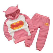 купить Girls Clothes Sets 2018 Children Clothing Outfits Tracksuit Batman Clothing Baby Kids Hoodies Coat Pants 2 pcs Boys Sport Suit онлайн