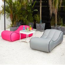 Drop shipping Inflatable beanbag sofa outdoor beach chairs air lounger sofa bed garden sofas cheap Outdoor Furniture Chaise Lounge Modern levmoon Fabric BB1830 195*80*50*30cm