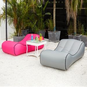 Image 1 - Drop shipping Inflatable beanbag sofa outdoor beach chairs  air lounger sofa bed garden sofas